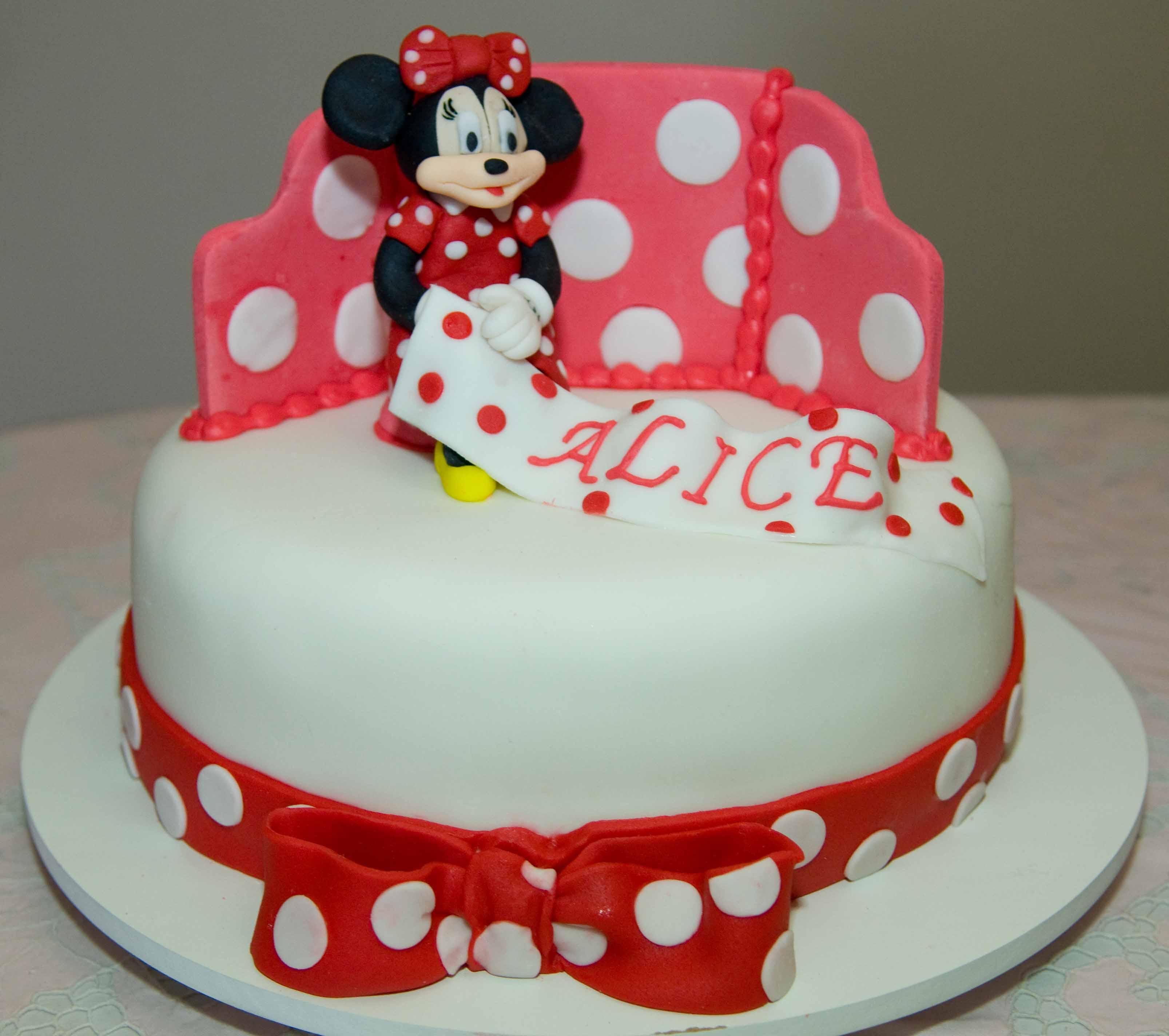 Bolo Da Minnie  Disney  Mickey  Anivers  Rio
